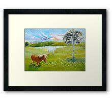 Serenity in the Field Framed Print