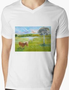 Serenity in the Field Mens V-Neck T-Shirt