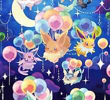 Eevees with Balloons by marishop