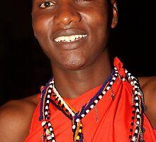 Moran Portrait, Maasai, or Masai, of Kenya & Tanzania  by Carole-Anne