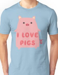I Love Pigs Cute T Shirt Unisex T-Shirt