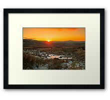 A Wicklow Winter Sunset Framed Print