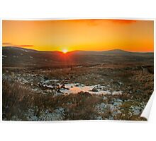 A Wicklow Winter Sunset Poster