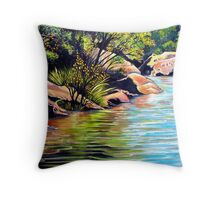 Jellybean Pool, Blue Mountains Throw Pillow