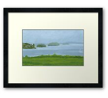 Islands in Fog Framed Print