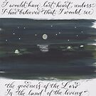 Scripture Psalm 27:8 calligraphy art  by Melissa Goza