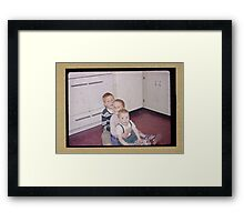 Three brothers in the fifties Framed Print