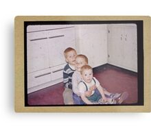Three brothers in the fifties Metal Print