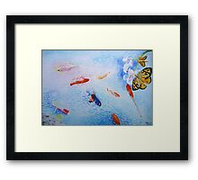 Tranquility in Familiar Numbers Framed Print