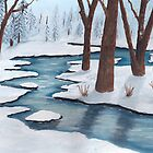 Winter Creek ~ Landscape ~ Oil Painting by Barbara Applegate