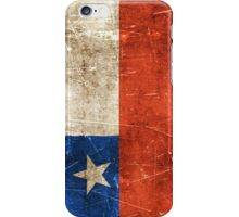 Vintage Aged and Scratched Chilean Flag iPhone Case/Skin