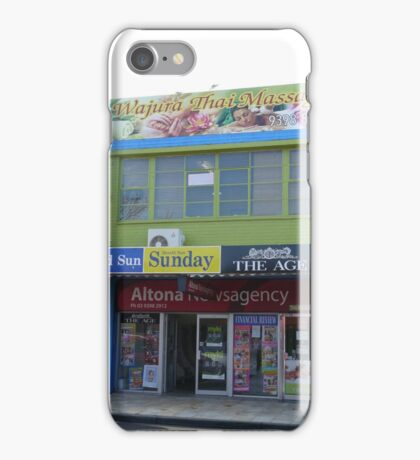 Newsagency and Massage iPhone Case/Skin