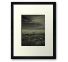 A Tree, Some Clouds, A View Framed Print