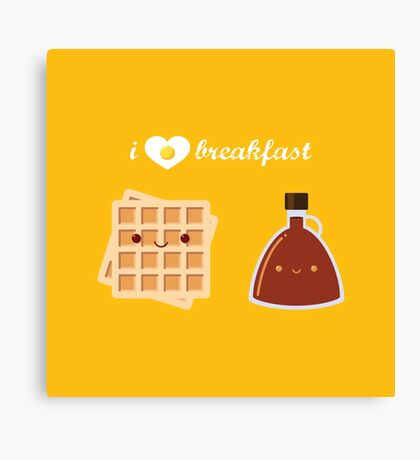 Waffles and Syrup Canvas Print