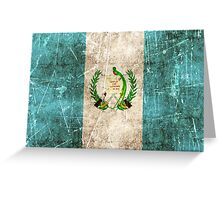 Vintage Aged and Scratched Guatemalan Flag Greeting Card