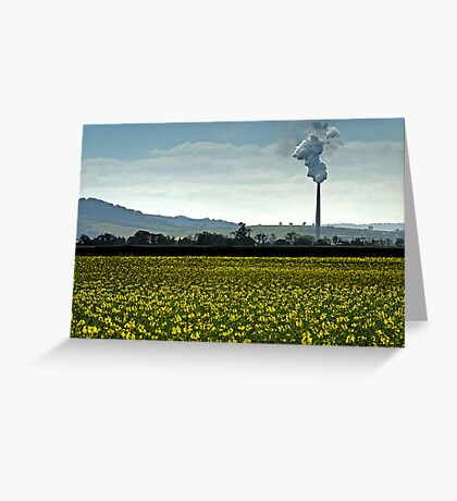 Smokestack landscape in watercolour Greeting Card