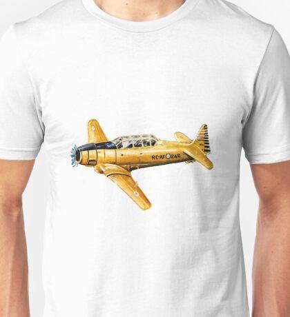 Yellow Plane Naive Art Unisex T-Shirt