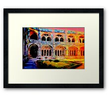 Arches in The Courtyard Framed Print