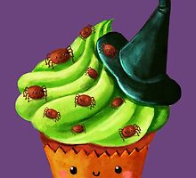 Cute Halloween Cupcake by colonelle