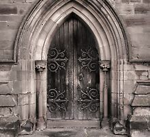 Hallow Church Door by David Benton