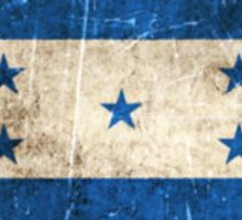 Vintage Aged and Scratched Honduras Flag Sticker