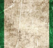Vintage Aged and Scratched Nigerian Flag Sticker