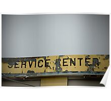 Service Station Sign. Poster