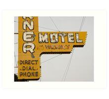 Westerner Motel. Art Print