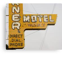Westerner Motel. Metal Print
