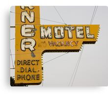 Westerner Motel. Canvas Print