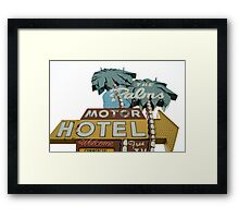 The Palms right. Framed Print