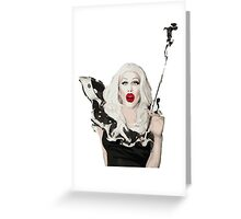 She looks spooky but she's really nice. Greeting Card