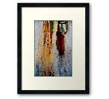 Bleeding Patina Framed Print