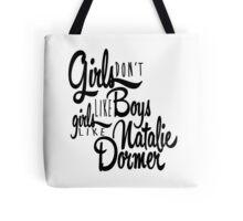 Girls Like Natalie Dormer Tote Bag