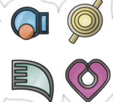 The Hoenn Gym Badges Sticker