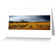Autumn Vineyard Greeting Card
