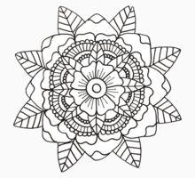 Floral Mandala: Black/White Kids Tee
