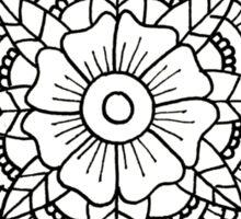 Floral Mandala: Black/White Sticker