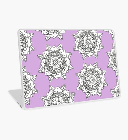 Floral Mandala: Black/White Laptop Skin