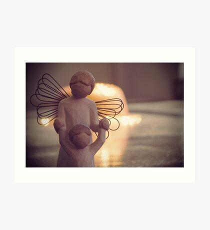 Angel Bokeh Art Print
