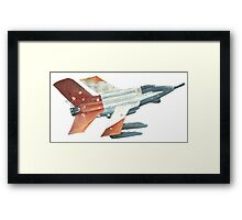 Red Tail Fighter Jet India Wall Mural Framed Print