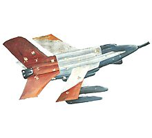 Red Tail Fighter Jet India Wall Mural Photographic Print