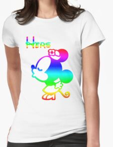Disney Couple Shirt: Hers and Hers Womens Fitted T-Shirt