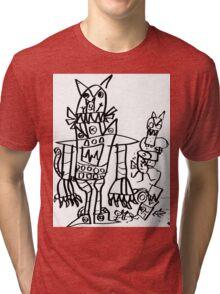 Catbot Mech by Roo8rz Tri-blend T-Shirt