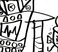 Catbot Mech by Roo8rz Sticker