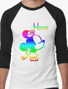 Disney Couple Shirts: Hers and Hers Men's Baseball ¾ T-Shirt