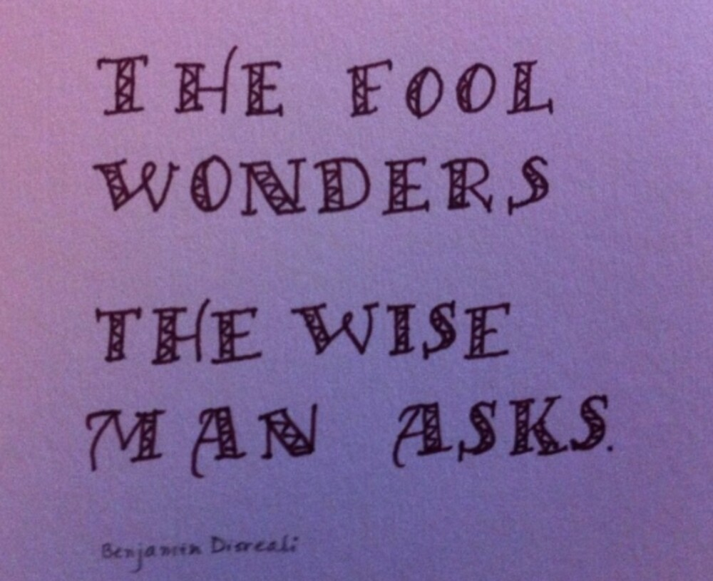 Wise man verse calligraphy art by Melissa Goza