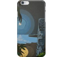 Tiki At Moonlight Beach iPhone Case/Skin