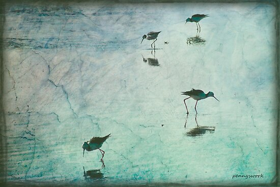 Stilts in Blue by pennyswork