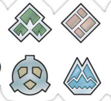 The Sinnoh Gym Badges Sticker